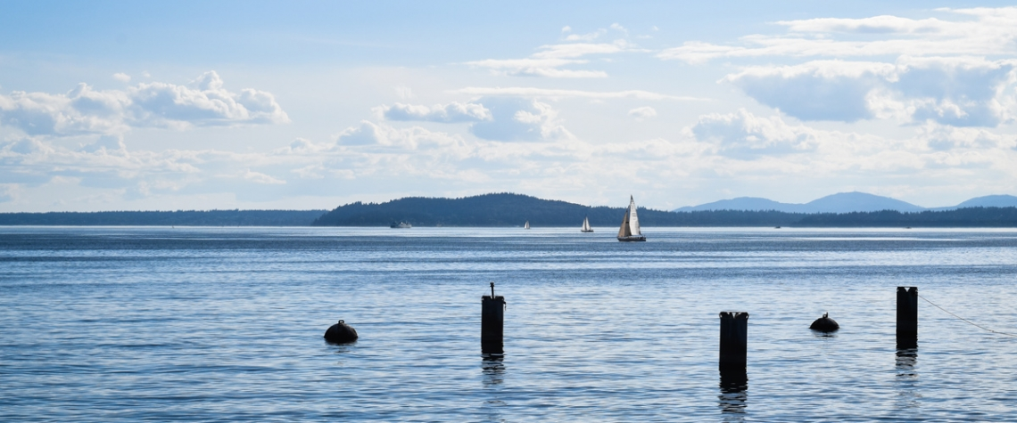 Puget Sound Sailing by MJ Peterson Photography
